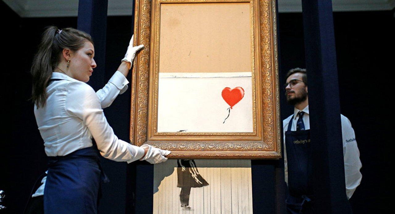 Banksy'den kendini doğrayan 'Balonlu Kız' eseri hakkında açıklama: Provalarda hep işe yaramıştı