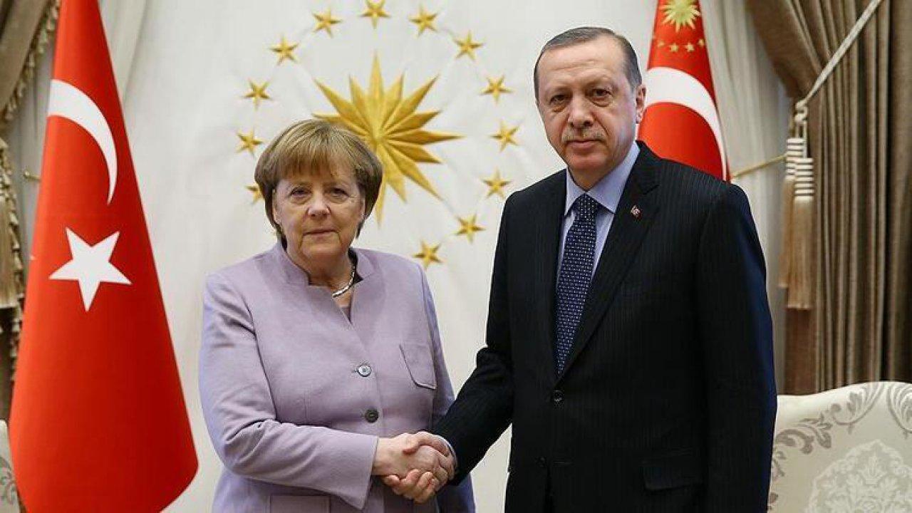Cumhurbaşkanı Erdoğan, Almanya Başbakanı Merkel'le görüştü