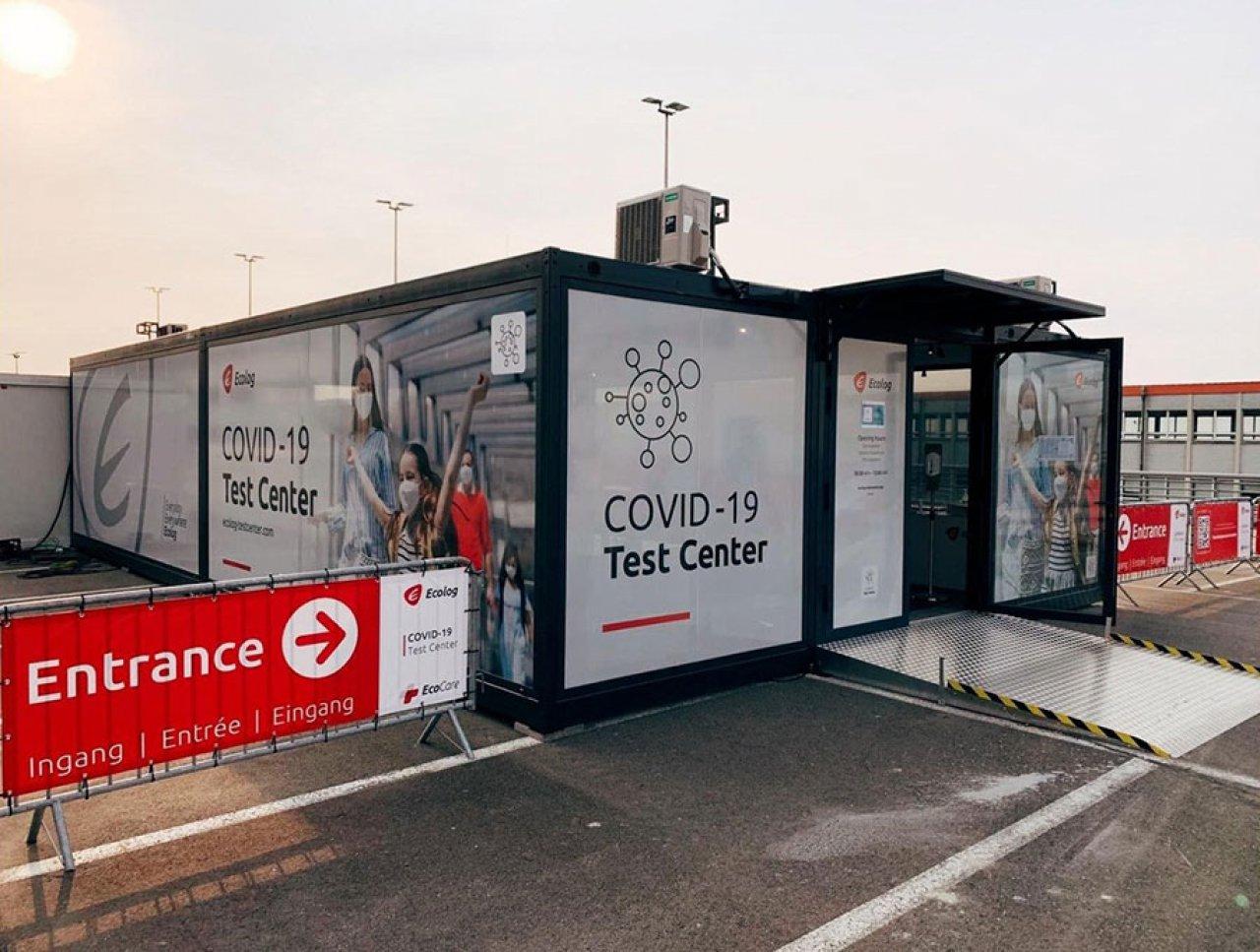 Brüksel Havalimanı'nda COVID-19 test merkezi açıldı
